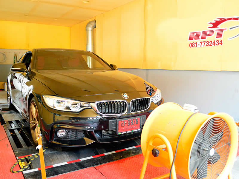 BMW 420d on RPT dyno in Bangkok Thailand