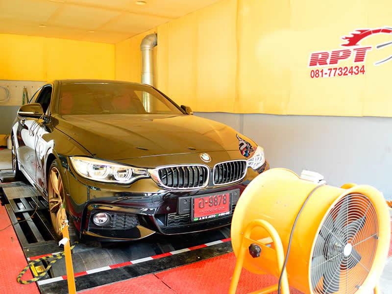 BMW 420d on RPT dyno in Bangkok Thailand