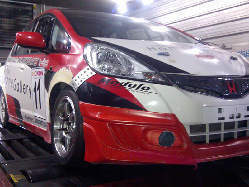 Honda Jazz on RPT dyno in Bangkok Thailand