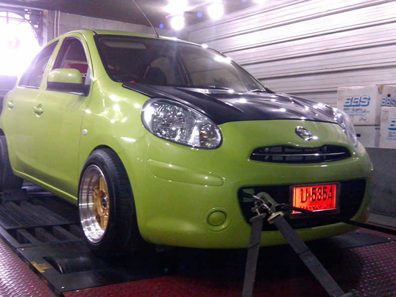 Nissan March on RPT dyno in Bangkok Thailand