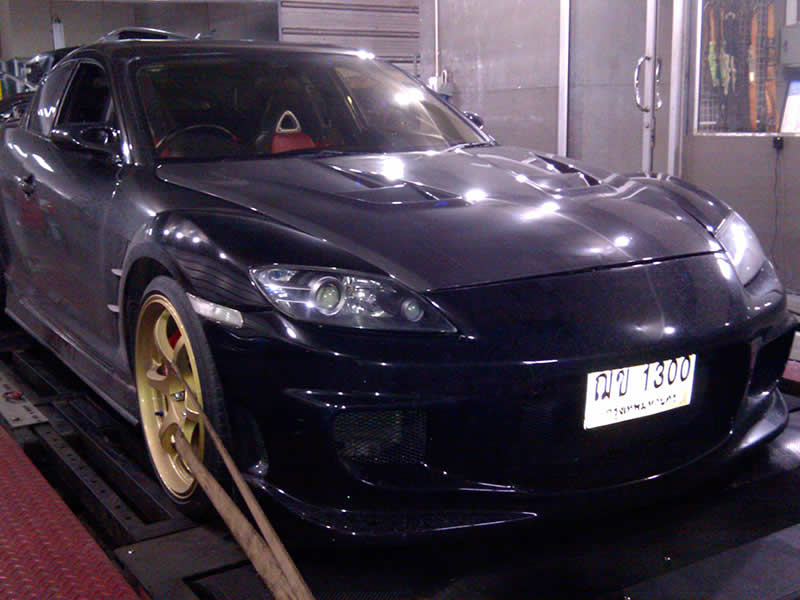 Mazda RX8 on RPT dyno in Bangkok Thailand
