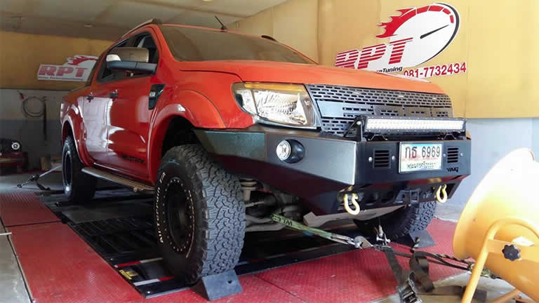 Ford Ranger T6 3.2L 2012 at Ritter Performance Tuning Thailand
