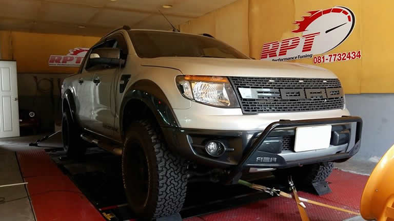 Ford Ranger T6 3.2L 2014 at Ritter Performance Tuning Thailand