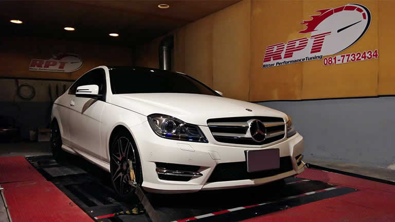 Mercedes C200 CGI 2013 at Ritter Performance Tuning Thailand