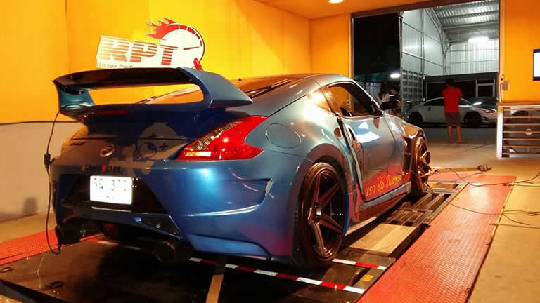 Nissan Nismo 370Z 2014 on dyno Ritter Performance Tuning Thailand