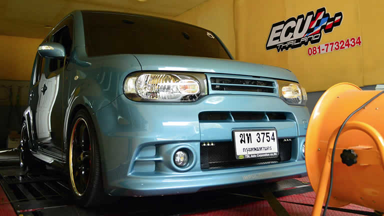 Nissan Cube 2010 on dyno at Ritter Performance Tuning Thailand