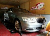 2013 Mercedes S350 on dyno for ecu remapping