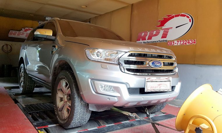 2016 Ford Everest ECU Remapping on the dyno at at RPT ECU Thailand Bangkok